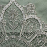 Haute House Fabric - Adabelle Green  -Silk Damask #4016