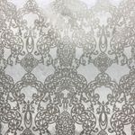 Haute House Fabric - Capilla Pewter - Damask Velvet #4046