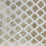 Haute House Fabric - Arcade Beige - Velvet Geometric Fabric #4358