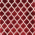 Haute House Fabric - Arcade Crimson - Velvet Geometric Fabric #4360