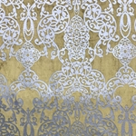 Haute House Fabric - Capilla Brass - Damask Velvet #4519