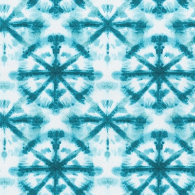 Haute House Fabric - Strobe Peacock- Outdoor Pattern #4661