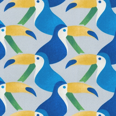 Haute House Fabric - Belize Cobalt - Outdoor Upholstery Fabric #4676