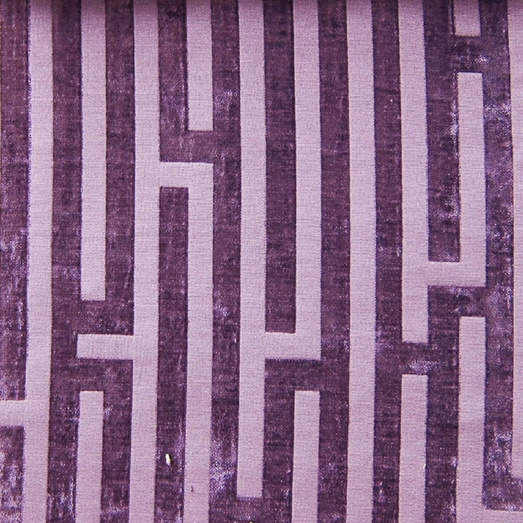 Haute House Fabric - Amazement Plum - Chenille Geometric Fabric #2894