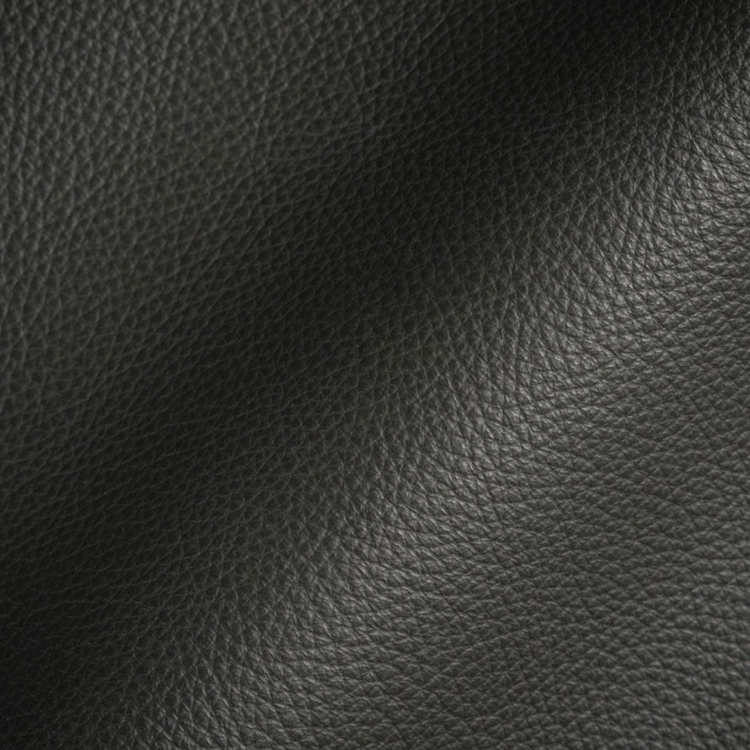 Dark Grey Leather Upholstery Designer Fabric