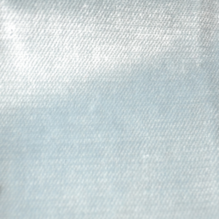 Light Blue Velvet Designer Upholstery Fabric Shimmer